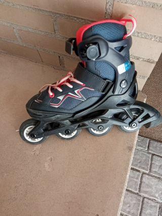 patines del 32 al 35 con casco y coderas