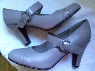 Zapato piel A ESTRENAR T 40 gris