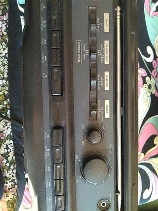 aiwa stereo radio cassette recorder con micro