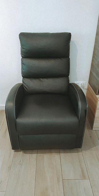 sillón de masajes electrónico reclinable