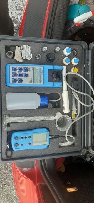 medidor de cloro y ph hanna