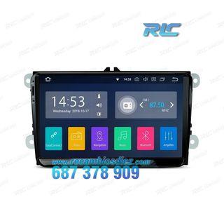 "RADIO GPS ANDROID 8.1 TÁCTIL 9"" VW SEAT SKODA CARP"