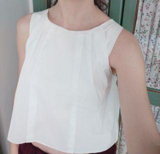Top/Blusa blanca de Zara