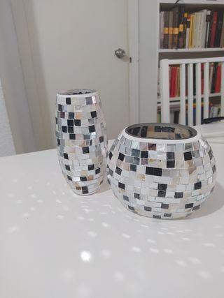 jarrones 2 piezas