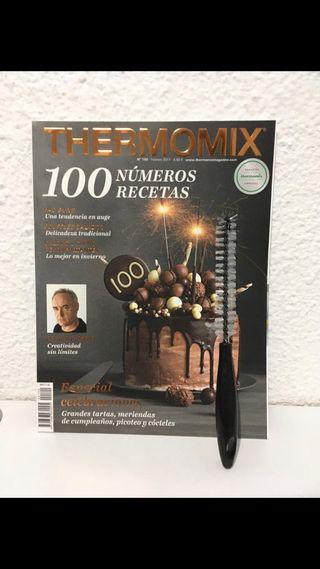 Revista y cepillo limpia cuchillas Thermomix