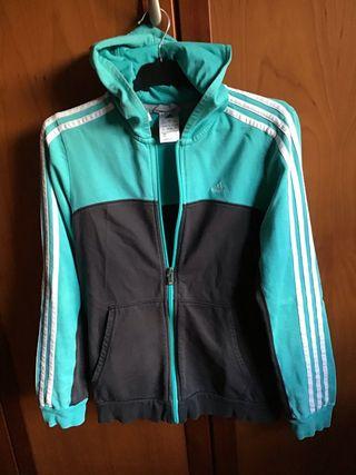 Sudadera turquesa y gris de Adidas Talla 38 M