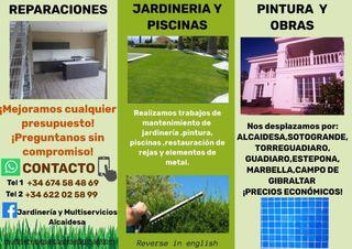 Jardineros y mantenimiento en general