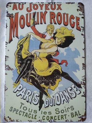 Cartel chapa Moulin Rouge