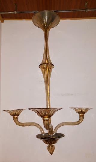Lámpara de techo, antigua, Murano Venecia