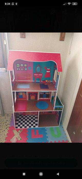 casa grande de muñecas!!