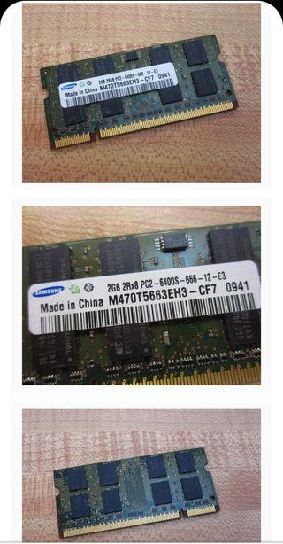 Memoria RAM 2GB DDR2 PC2-6400 800MHz