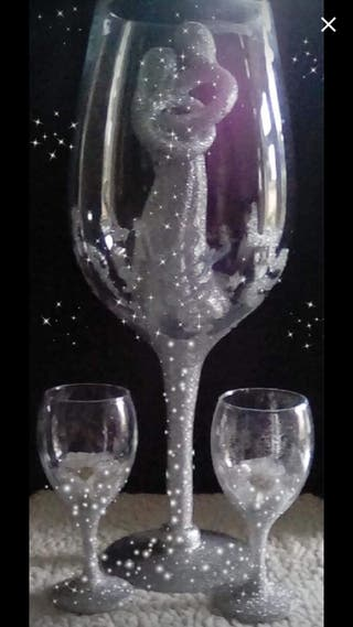 Hand crafted large champagne glass
