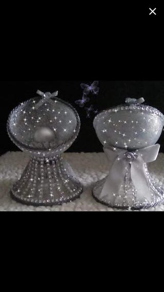 Hand crafted pearl ornaments