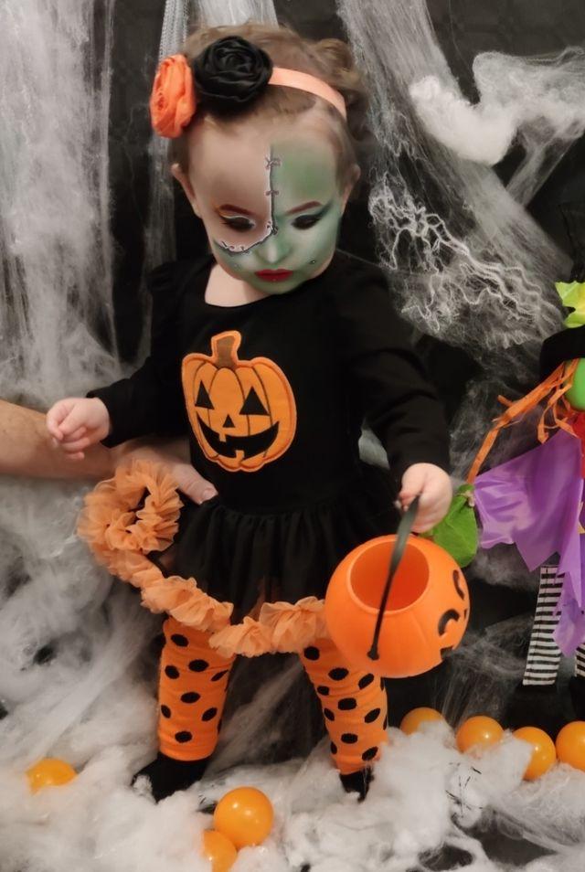 Disfraz bebé calabacita de Halloween
