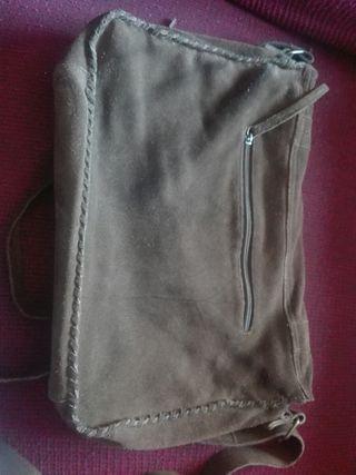 bolso bandolera cuero serraje