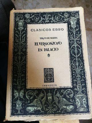 """Libro """"El vergonzoso en palacio"""" Clasicos Ebro."""