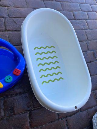 Bañera de bebe y silla para ducha