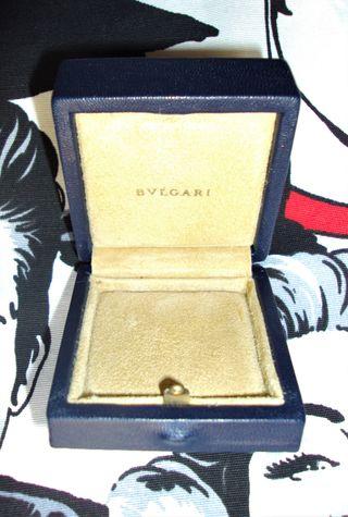 ESTUCHE BULGARI para anillo pendientes colgante