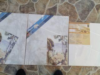 tres lienzos (1 de40×40 y 2 de38×46)