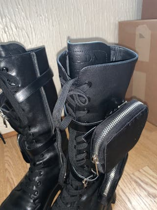 Prada boots & Chanel style bag combined