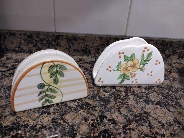 servilleteros cerámica