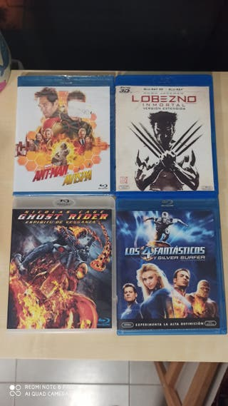 4 bluray Marvel Lobezno Ant Man 4F Ghost Rider