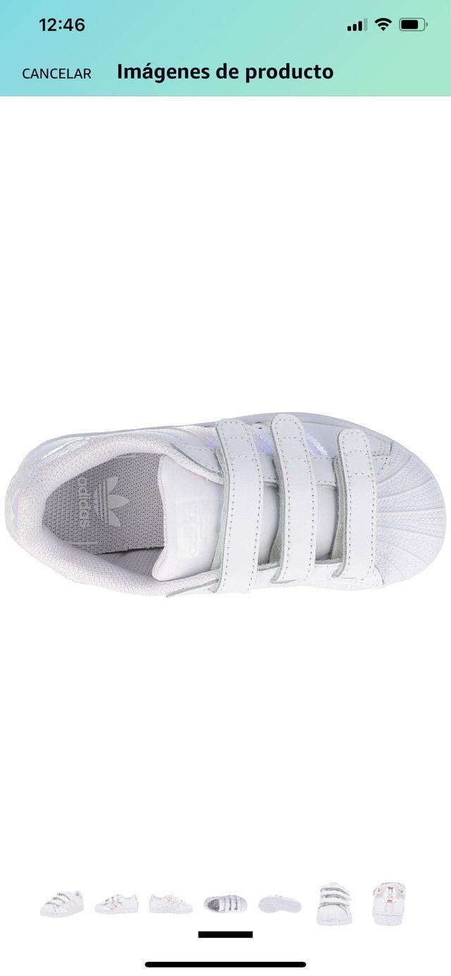 Rendición Rectángulo autor  Zapatillas Adidas superstar cf talla 34 y 35 de segunda mano por 35 € en O  Birloque en WALLAPOP