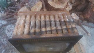 chimenea con dos turbinas hierro fundido