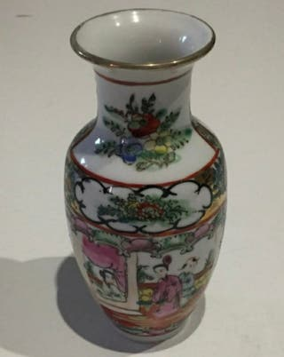 3 Jarrones de porcelana china antigua Macau
