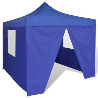 Carpa para Exterior con 4 Paredes 3x3 m Azul