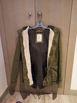chaqueta verde militar berskha