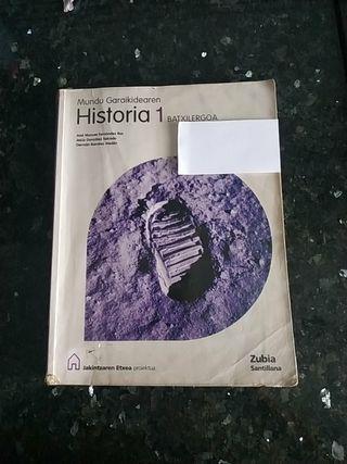 HISTORIA MUNDU GARAIKIDEAREN BACHILLERATO 1