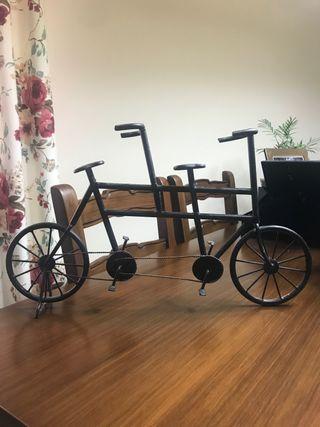 Bicicleta tándem decorativa