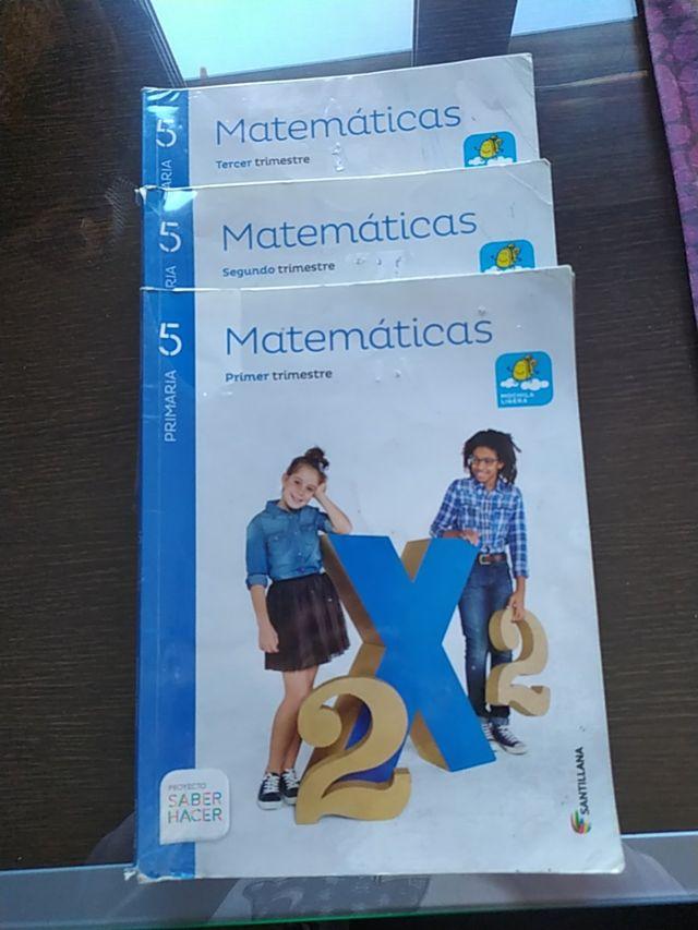 Libros matematicas 5 primaria.