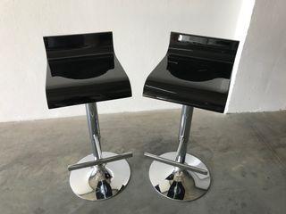 Vendo Taburetes de Aluminio y asiento de madera