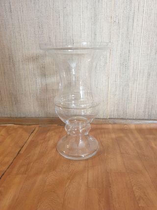 Jarron / Florero de cristal grande. 45cm alto