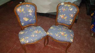 4 sillones y 2 sillas isabelinos