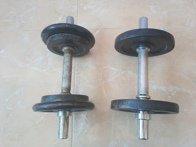 Mancuernas de metal peso regulable/ajustable