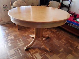 Mesa madera redonda