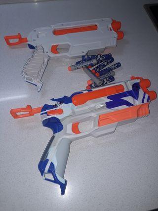 pistola Nerf.