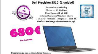 portatil dell precision 5510
