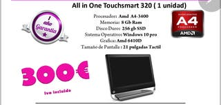 pc all in one touchsmart 320