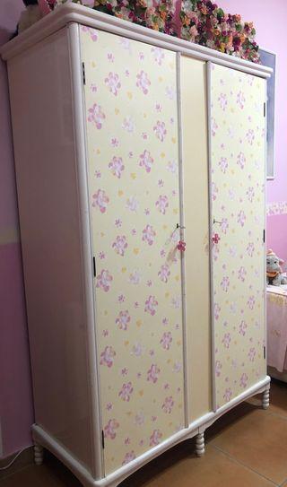 Armario dos puertas dormitorio infantil
