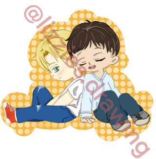 Banana Fish and Yuri!!! On Ice Stickers
