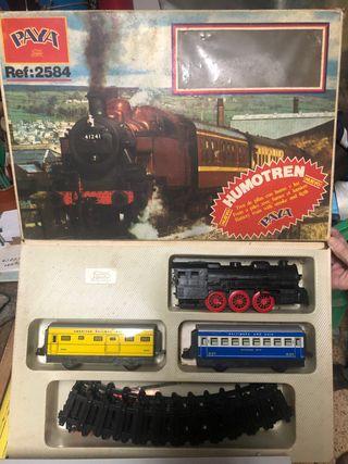 Tren HUMOTREN de PAYA juguete vintage con CAJA