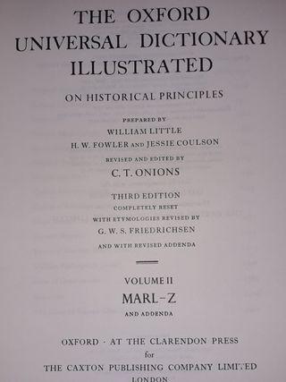 The Oxford Universal Diccionary