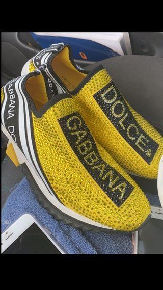 zapatillas dolce gabbana amarillas talla 41.