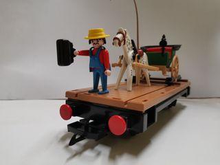 Vagón con calesa y personaje 4034