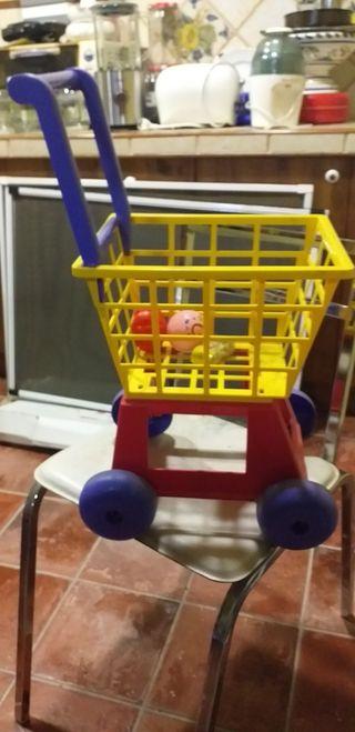 carrito y banquito