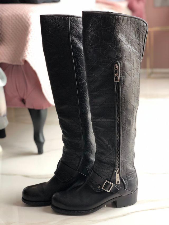 Black Dior boots